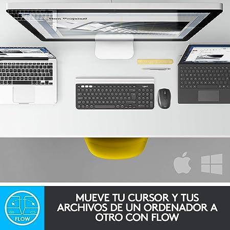 Logitech MX Anywhere 2S Ratón Inalámbrico, Multi-Ordenadores, 2,4 GHz y Bluetooth con Receptor Unifying USB, Seguimiento Láser 200/4000 DPI Toda ...