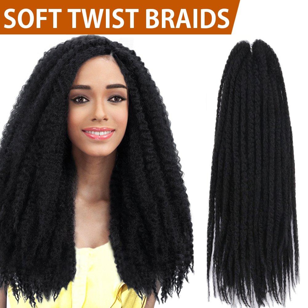 Amazon Fashion Idol 1 Pack 16 Synthetic Afro Twist Braid Hair