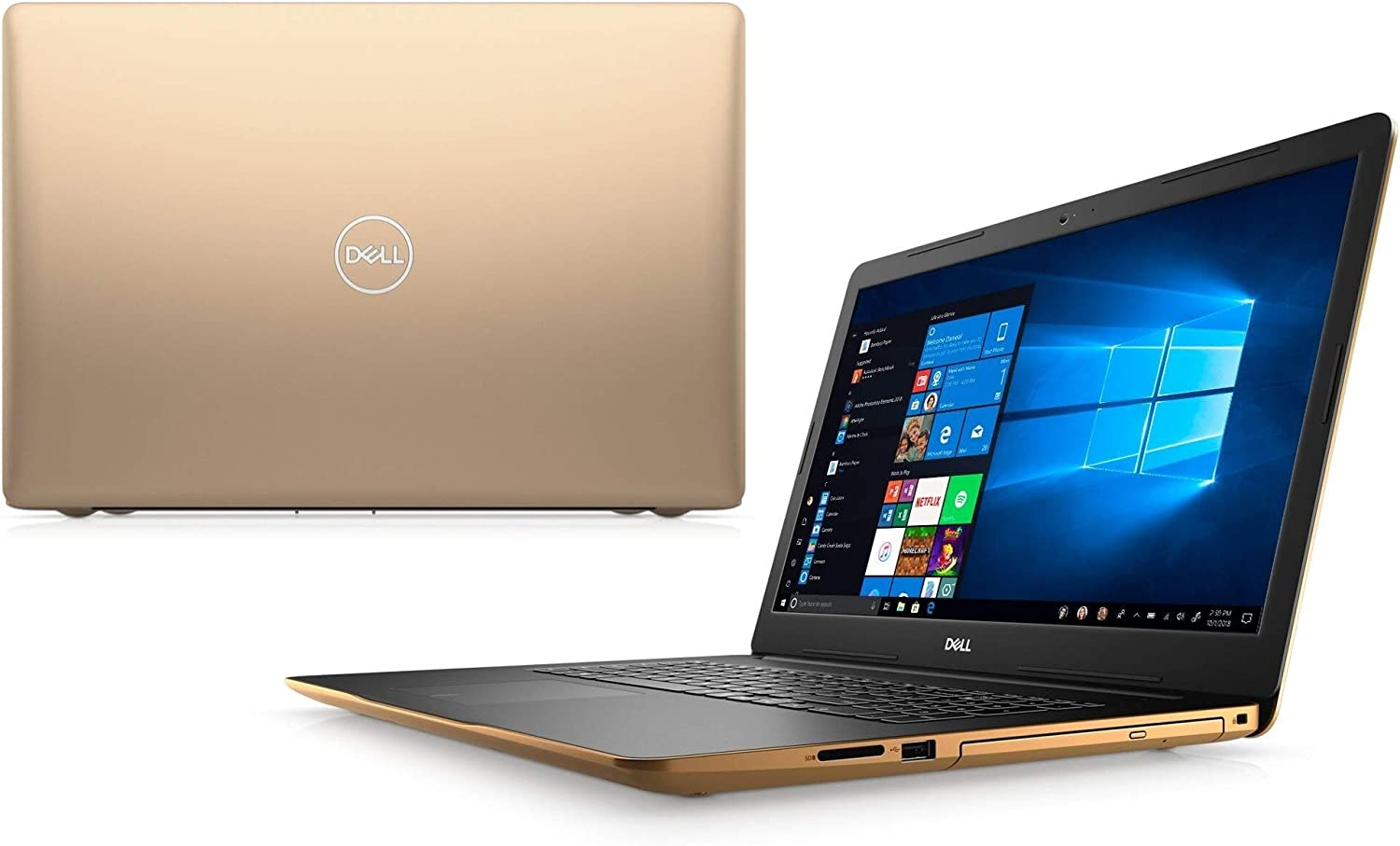 "2020 Newest Dell 17 3870 Premium Laptop PC: 17.3"" HD+ Touch Display, Latest Intel 2-Core Pentium Gold Processor, 8GB RAM, 512GB SSD, Bluetooth, Wi-Fi, HDMI, Backlit-KB, FP-Reader, Win10, June MP"