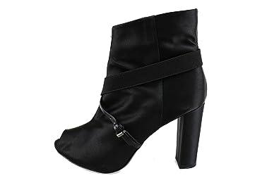 73535441c7ac3a MANAS Stiefeletten Damen Satin schwarz 37 EU  Amazon.de  Schuhe ...