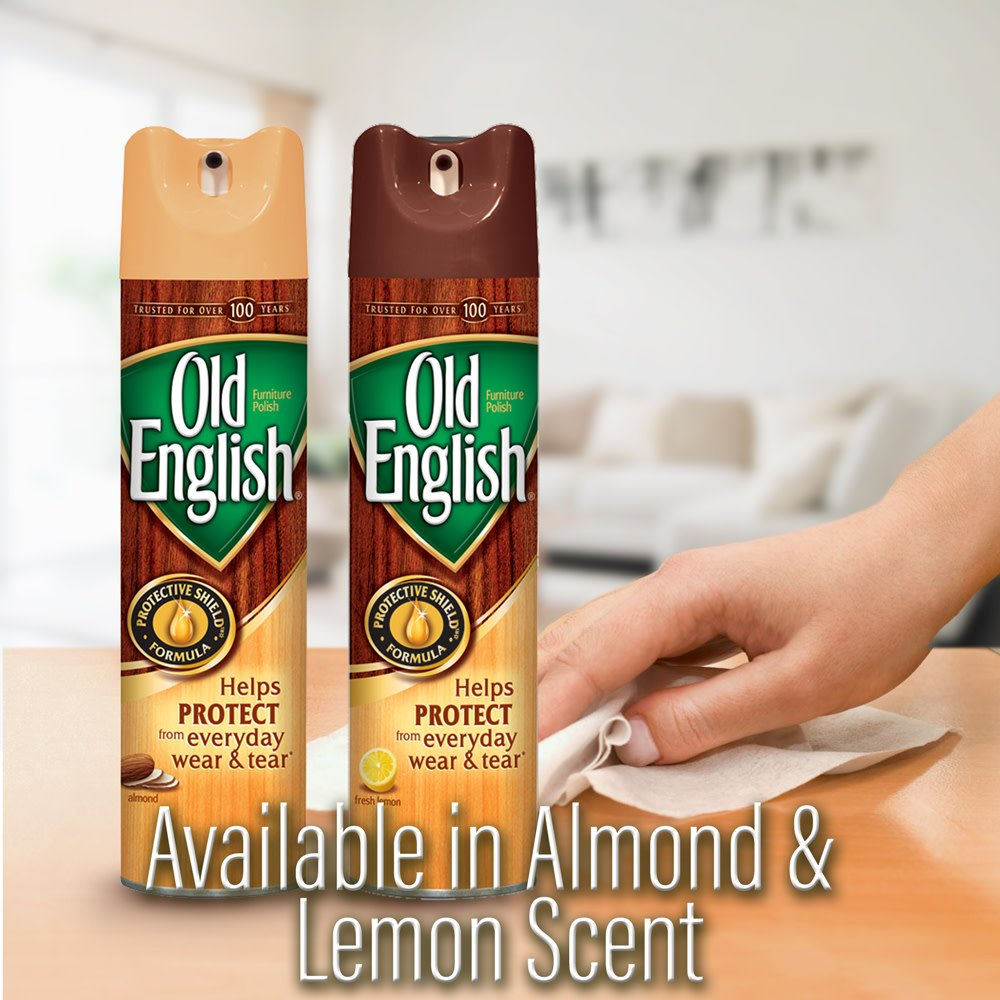 Old English Furniture Polish, Almond 150 oz (12 Cans x 12.5 oz) by Old English (Image #4)