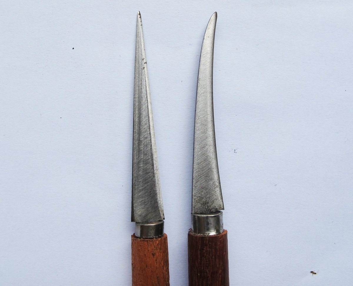 Set of Fruit Carving Knife Handle Carving Wooden It Very Beautiful 2 Pcs. by Thai Wood