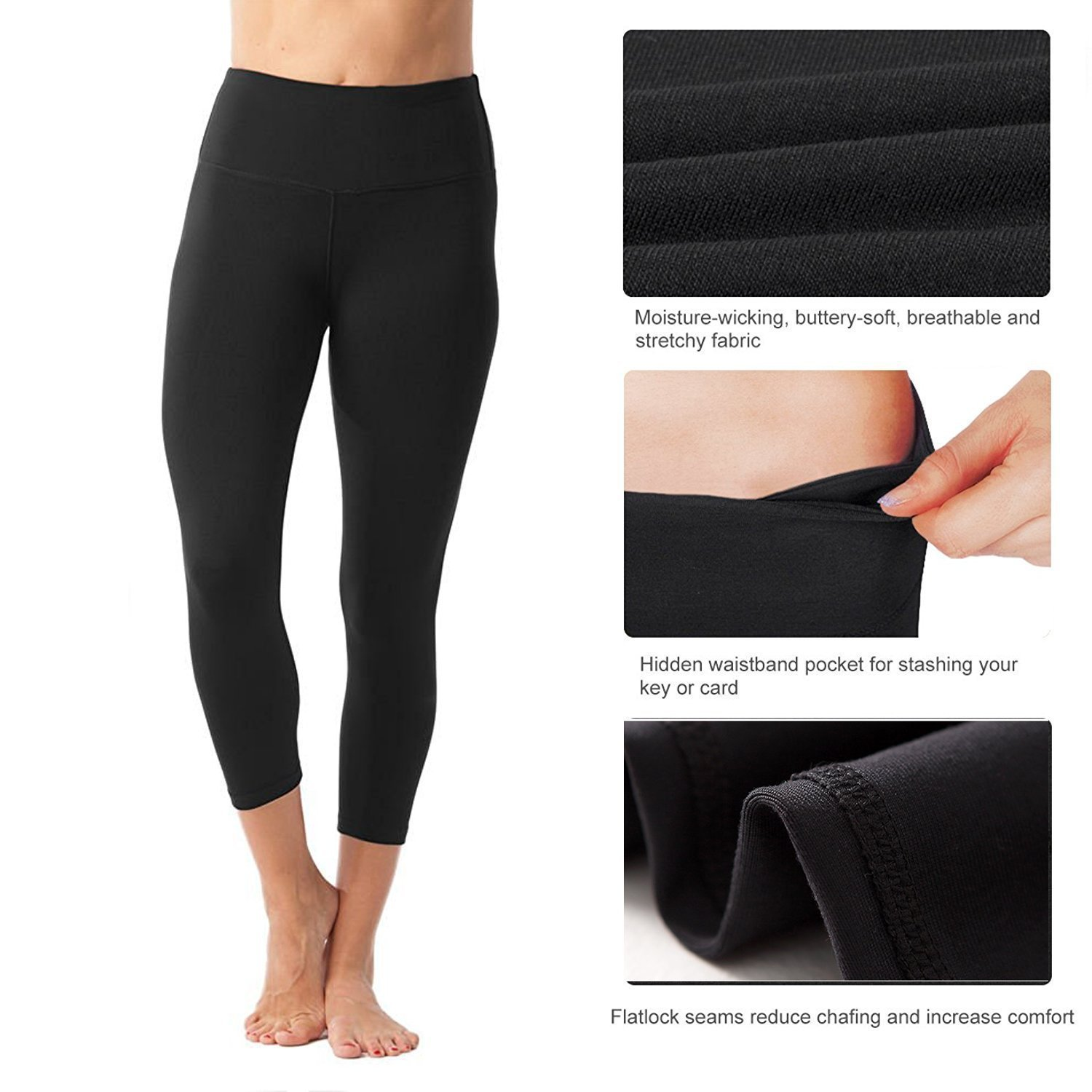 dd58ba4b98ddc1 FIRM ABS Women's Black Tummy Control with Figure Firming High Waist  Compression Leggings: Amazon.co.uk: Clothing