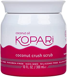 product image for Kopari Coconut Crush Scrub - Brown Sugar Scrub to Exfoliate, Shrink the Appearance of Pores, Help Undo Dark & Age Spots + More With 100% Organic Coconut Oil, Non GMO, and Cruelty Free 10 Oz