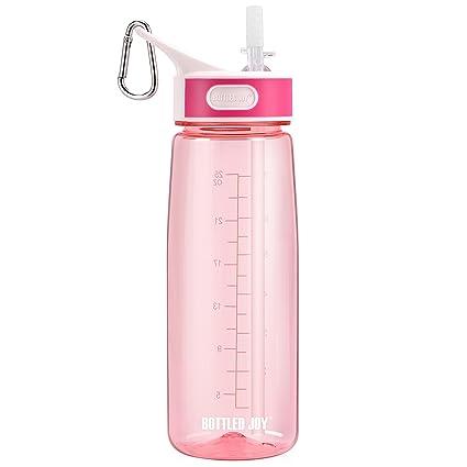 9d36c4195e BOTTLED JOY Sports Water Bottle Straw, Tritan Water Bottles Handle, Large  Capacity Drinking Bottle 800ml, DustProof Cap 27oz, Water Bottles ...