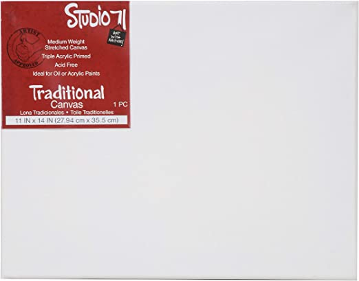 Medium Weight Traditional Stretched Canvas Primed 5 by 5 inch Darice Studio 71