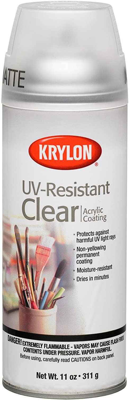 Krylon K01309 Gallery Series Artist and Clear Coatings Aerosol, 11-Ounce, UV-Resistant Matte Spray Paint, 11 ounce, 11 Oz