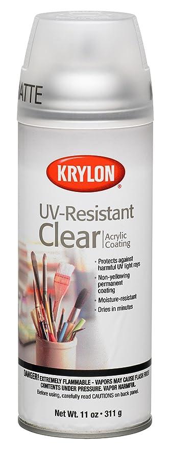Krylon 1309 galería serie artista claro y revestimientos aerosol, Logo, resistente a los rayos
