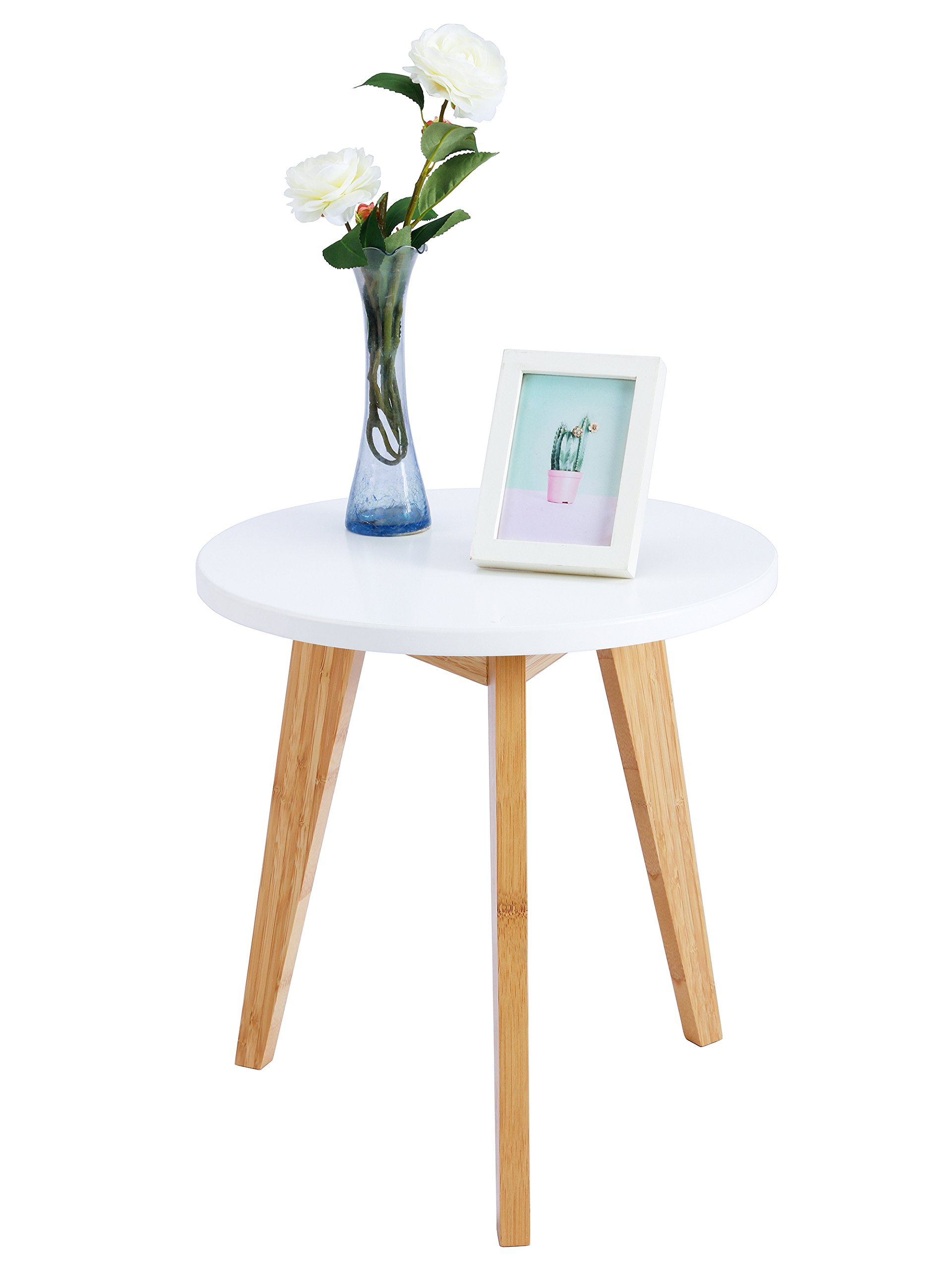 WILSHINE Small Round End Table For Small Spaces In Living