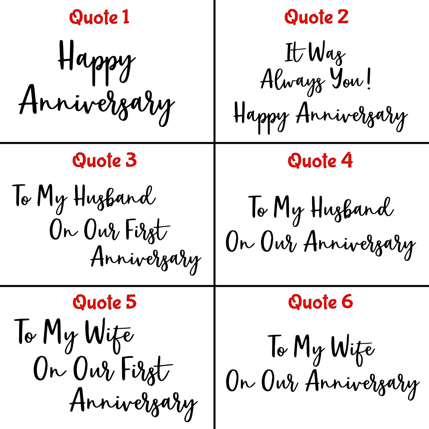 Personalised Anniversary Card For Husband Wife Couple Choice Of 6