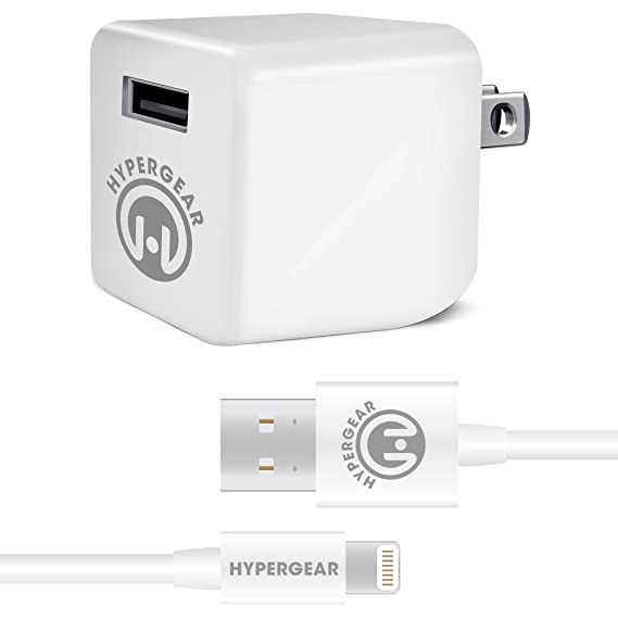 Amazon.com: Hyper Gear Cube 2.4A Wall Charger Includes MFi ...