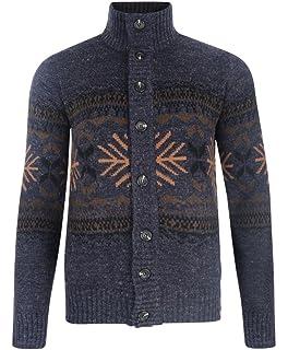eb4b7251b1a3 Tokyo Laundry Nordic Button Up Warm Chunky Knit Cardigan Sweater Dark Denim  Marl