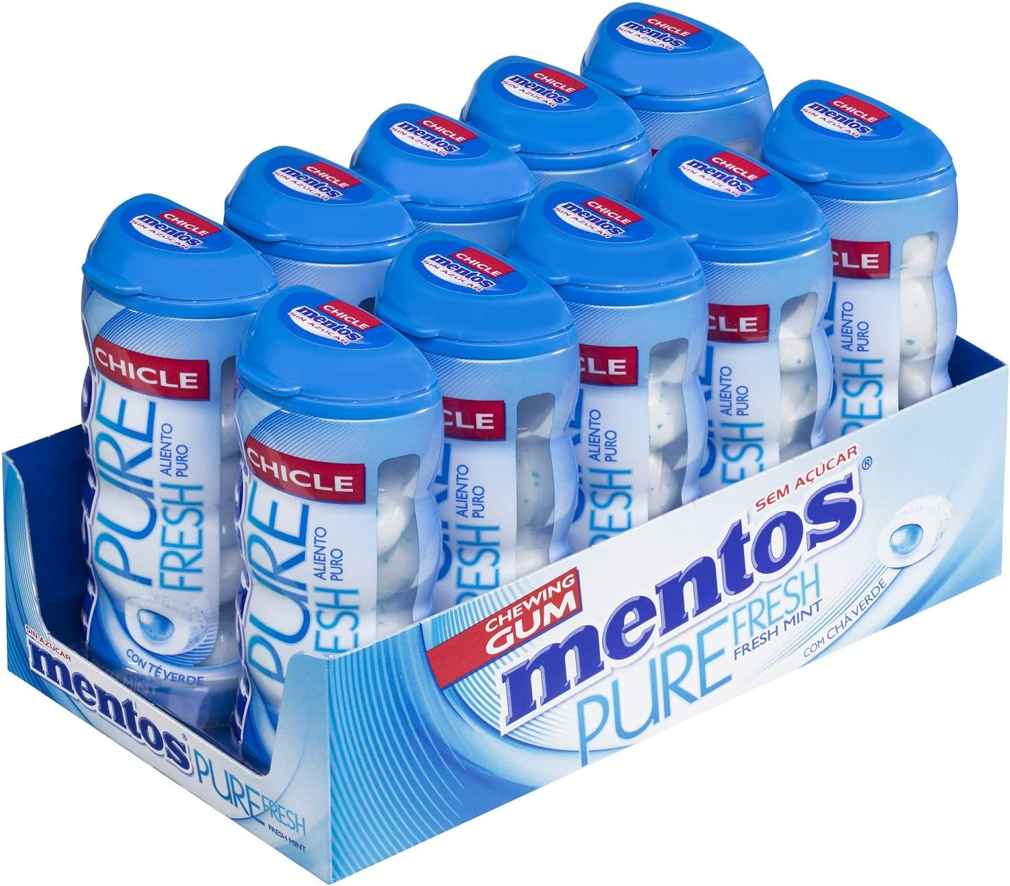 Mentos Chicle Menta, Sin Azúcar - 10 unidades de 30 gr. (Total 300 gr.): Amazon.es: Alimentación y bebidas