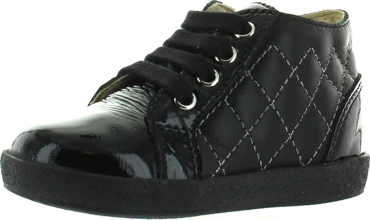 Falcotto Girls 1437 Designer Quilted First Walker Fashion Booties