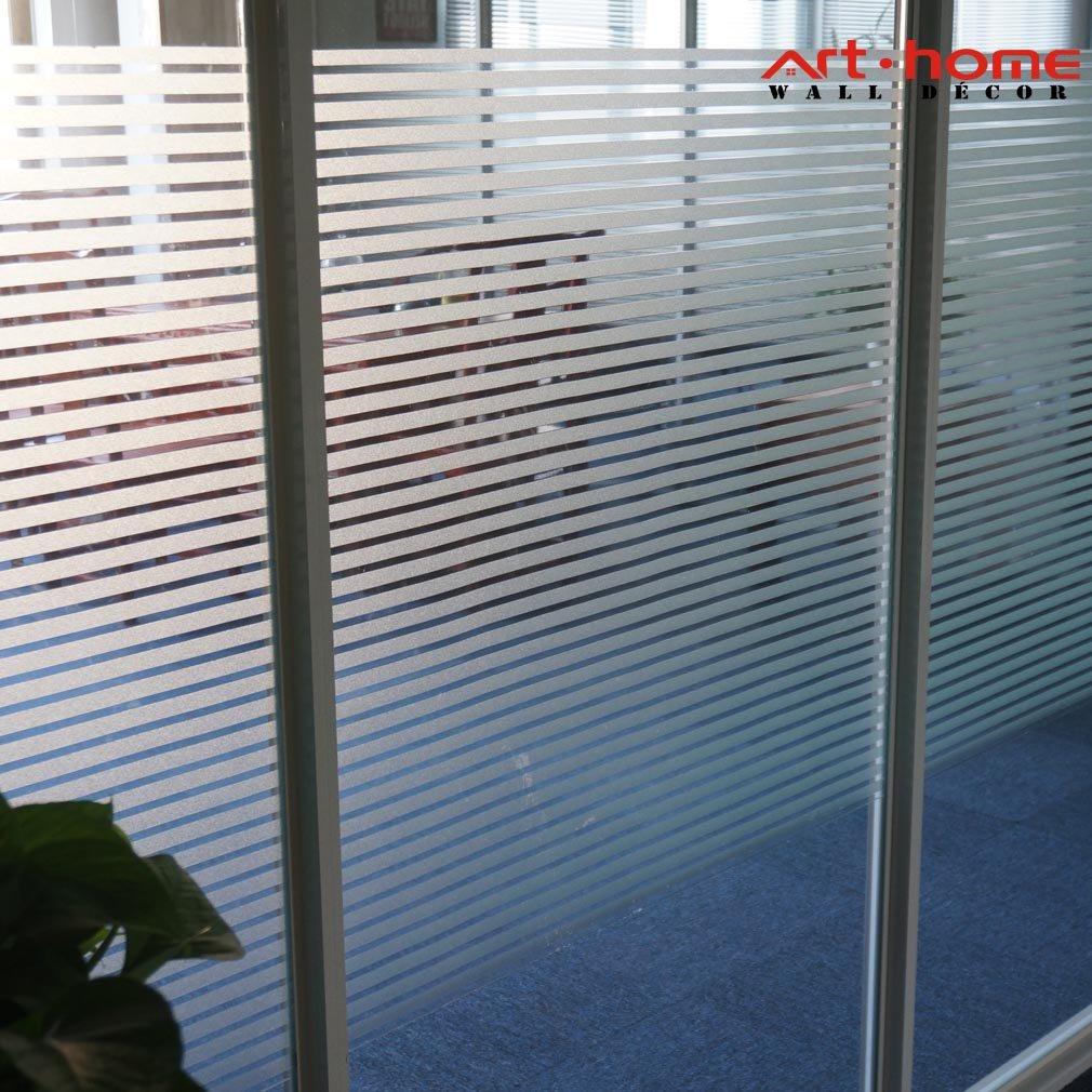 Arthome macchiato finestra di vetro decorativo privacy pellicole senza colla non adesivo self smerigliato statica rimovibile anti UV per porta del bagno camera cucina ufficio, AH042, 17.7 x 100 inch Arthome Limited