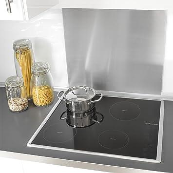 Zeller 27276 - Paraschizzi per cucina, 56 x 49 cm, in acciaio INOX ...