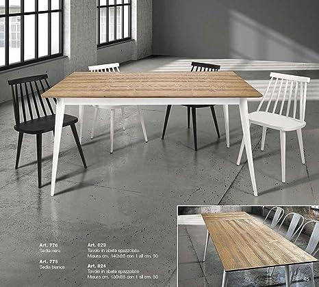Tavolo Legno Spazzolato.Tables Chairs Tavolo Allungabile Legno Spazzolato Struttura
