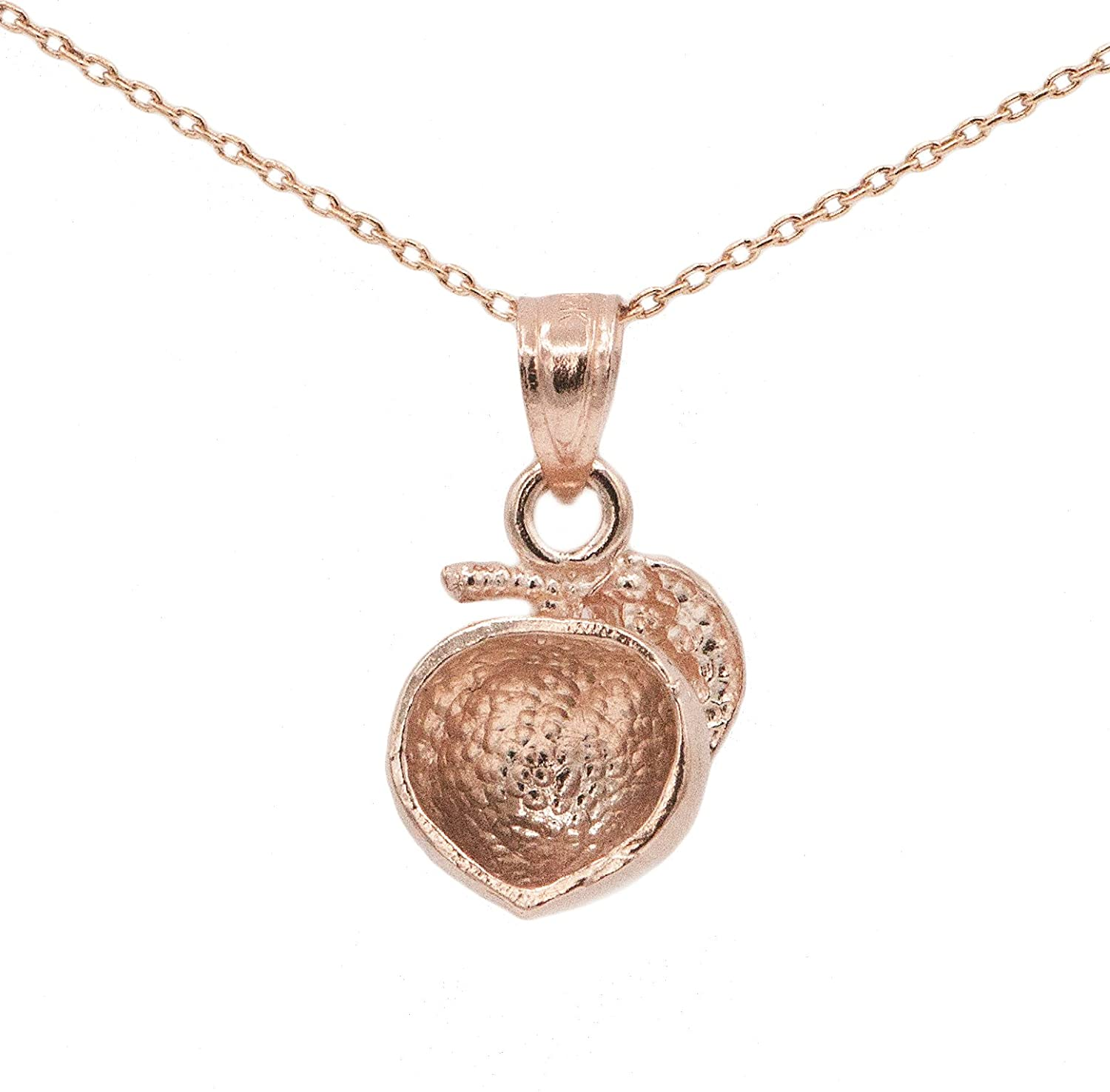 Ice on Fire Jewelry 10k Rose Gold Peach Pendant