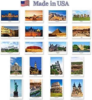 Set of postcards from around the world