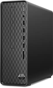 HP S01-AF0001NA Slim Desktop Quad-Core Intel Pentium Silver J5005 hasta 2.8 GHz, 8GB DDR4 SDRAM, 256GB NVMe SSD, Wireless 11ac, DVD RW, Windows 10 Pro 64bit