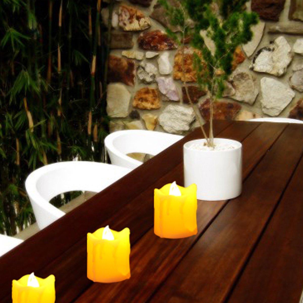 R/éaliste et Brillant Erosway Bougies LED T/él/écommande pour D/écoration de No/ël Anniversaire Mariage Minuteur par Heures 2//4//6//8 Lot de 6 Bougies /Électriques vacillantes