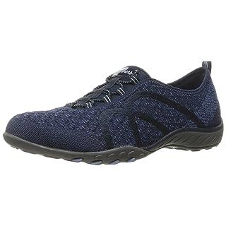 Skechers Sport Women's Breathe Easy Fortune Fashion Sneaker,Navy Knit,10 M US