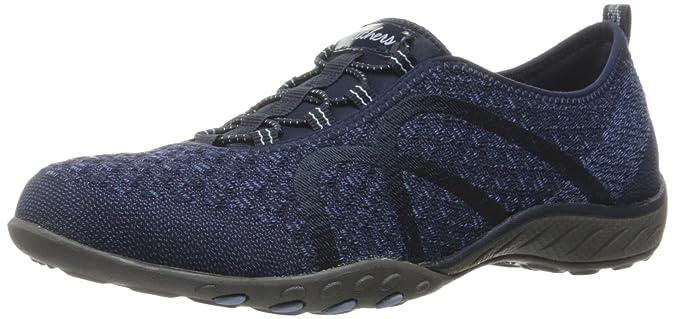 Breathe Easy-Fortune Knit, Sneaker Donna, Grigio (Grey), 38 EU Skechers