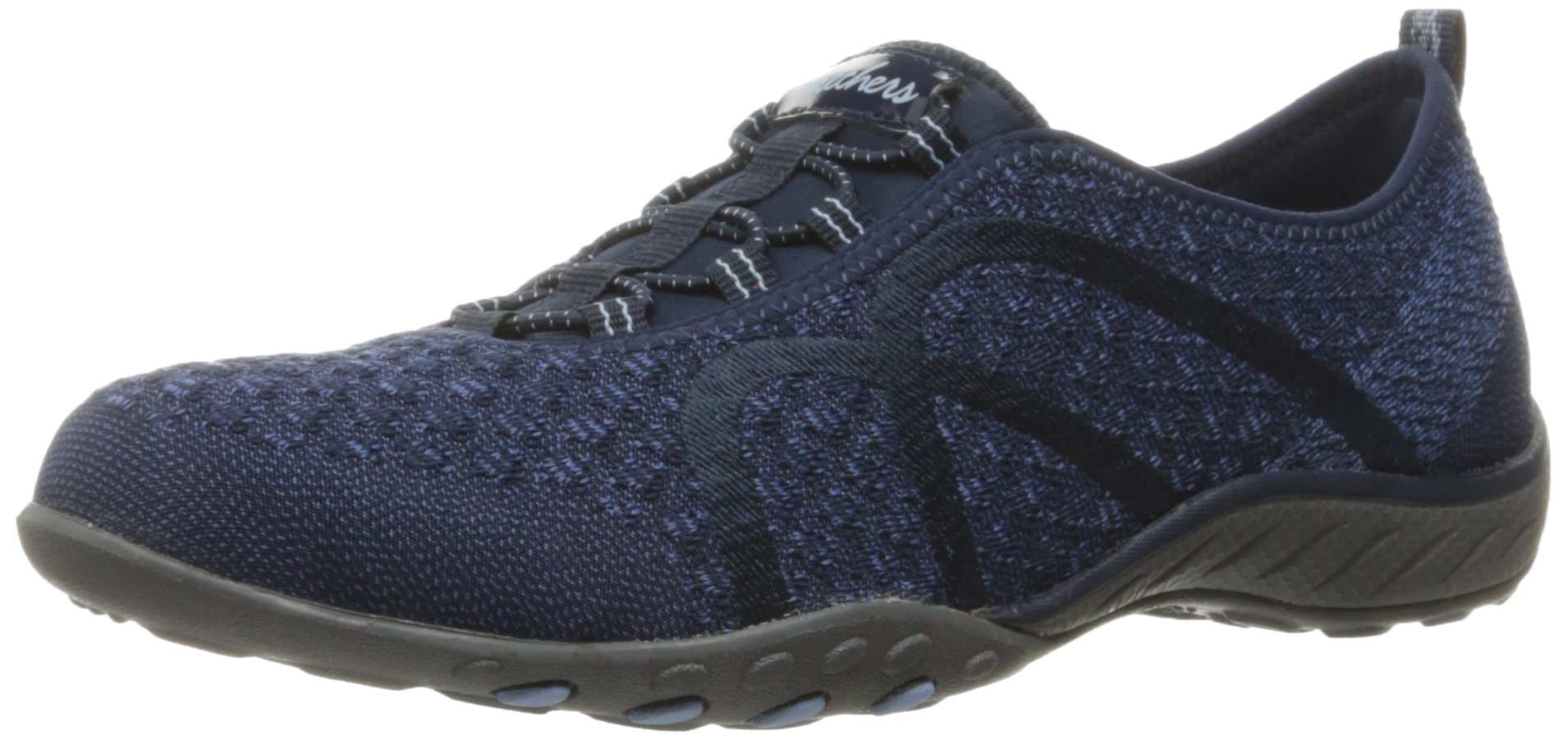 Skechers Sport Women's Breathe Easy Fortune Fashion Sneaker,Navy Knit,5.5 M US