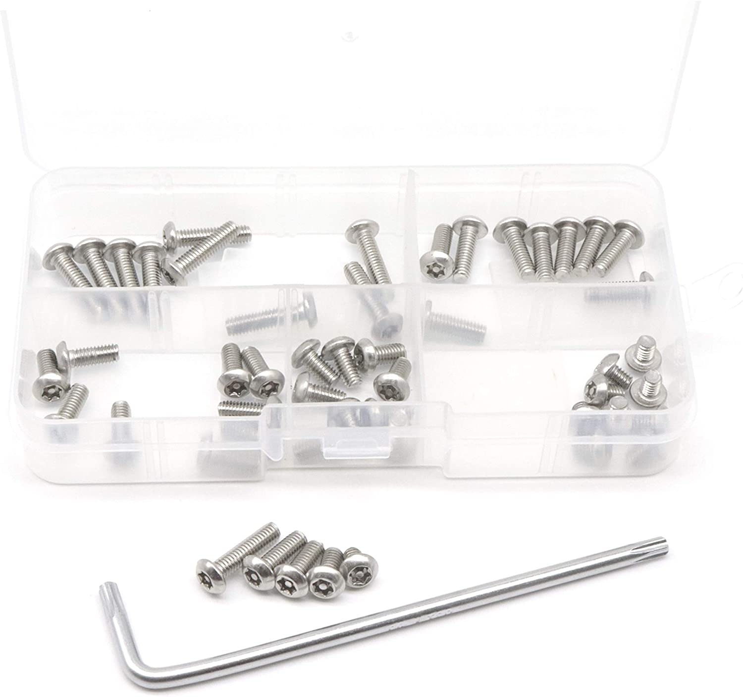 12 @ M3 X 10 STAINLESS STEEL A2 TORX TX PIN BUTTON HEAD SECURITY SCREW TX10 T10