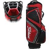 Titleist Men's Lightweight Cart Bag, Black/Grey/Red