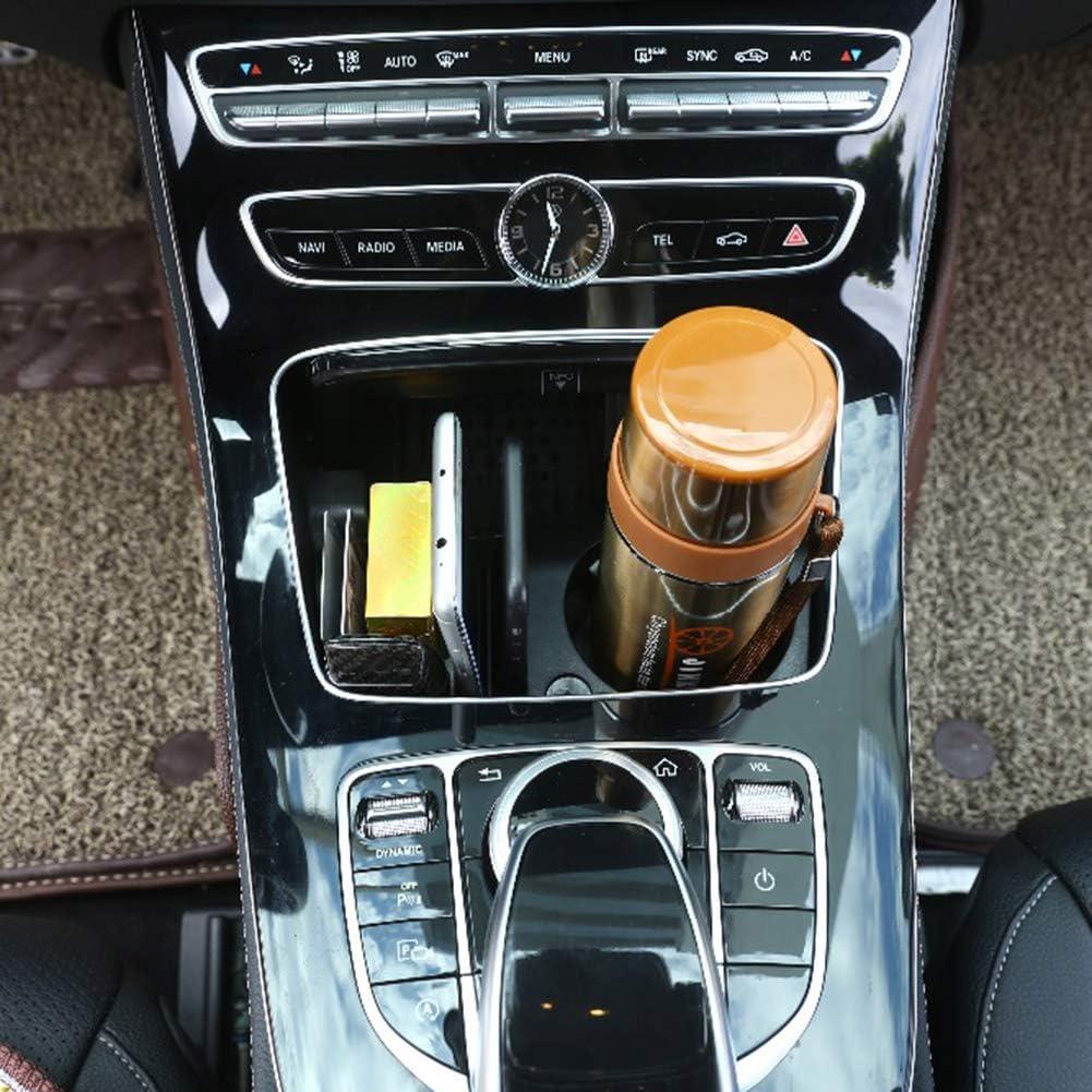 schwarz JF Room Becherhalter Getr/änkehalter Auto Central Konsole Aufbewahrungsbox Becherhalter Zentralbox Kompatibel f/ür Mercedes Benz C Class W205 GLC-Class X253 E Class W213