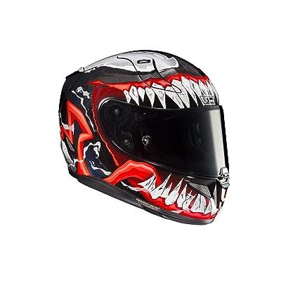 HJC Unisex-Adult Full Face RPHA-11 PRO Venom 2 (Black/Red/White, Medium): Automotive