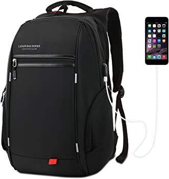 LUXUR 37L Nylon Waterproof Laptop Backpack