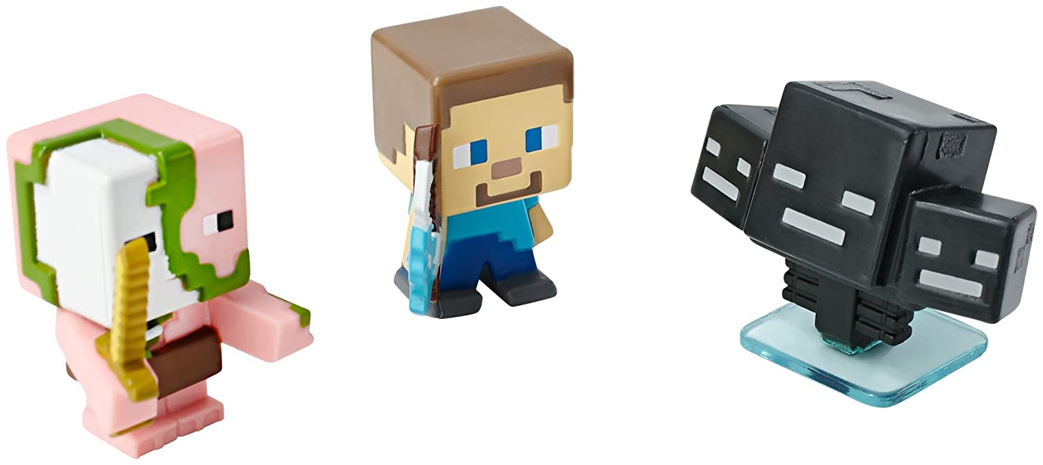 Amazon.com: Minecraft Collectible Figures Zombie Pigman, Wither and ... for Minecraft Characters Zombie Pigman  29dqh