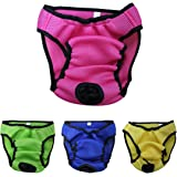 Reusable Washable Dog Diapers Dog Diaper Pet Diapers Wrap Band Nursing Washable,Rose,X-large