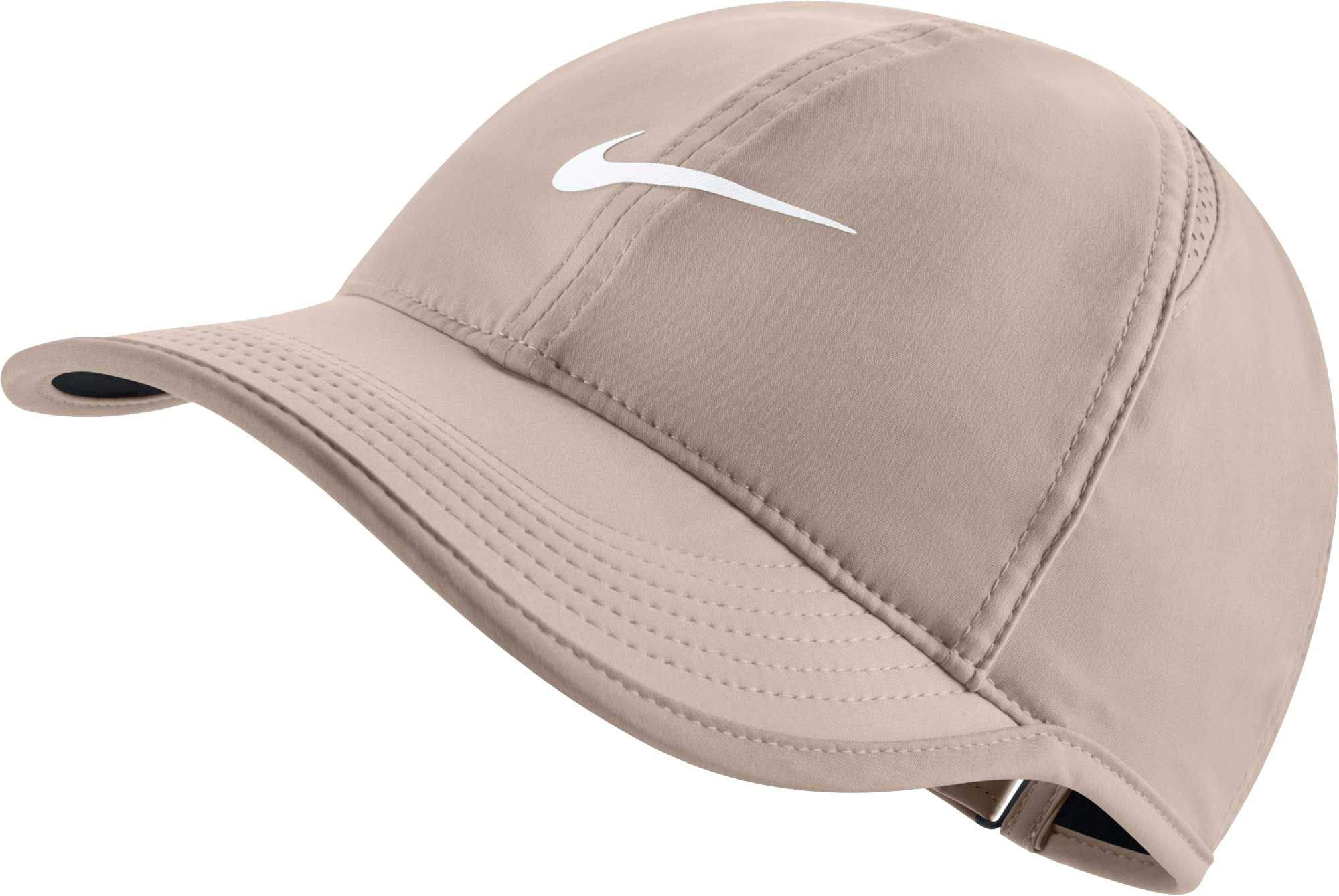 NIKE Women's Feather Light Adjustable Hat (Guava Ice)