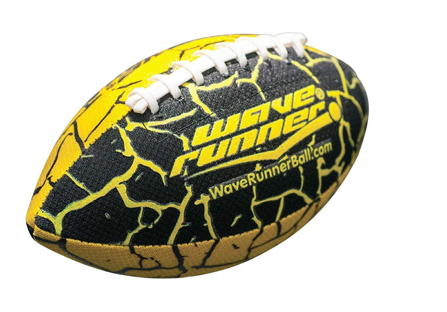 Random Color Lets Play Football in The Water! Wave Runner Grip It Waterproof Football- Size 9.25 Inches with Sure-Grip Technology 2 Pack