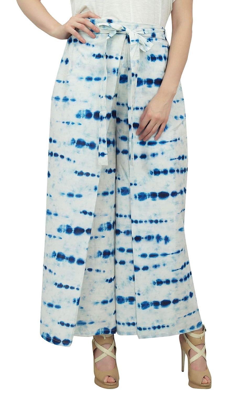 Phagun Shibori Pantalones de Yoga Impreso Pant Blanca ...