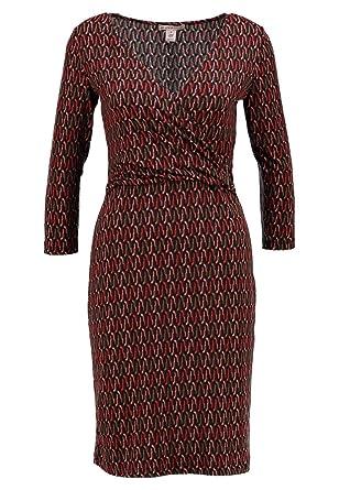 Anna Field Kleid Jersey Damen mit V- Ausschnitt - Jerseykleid ...
