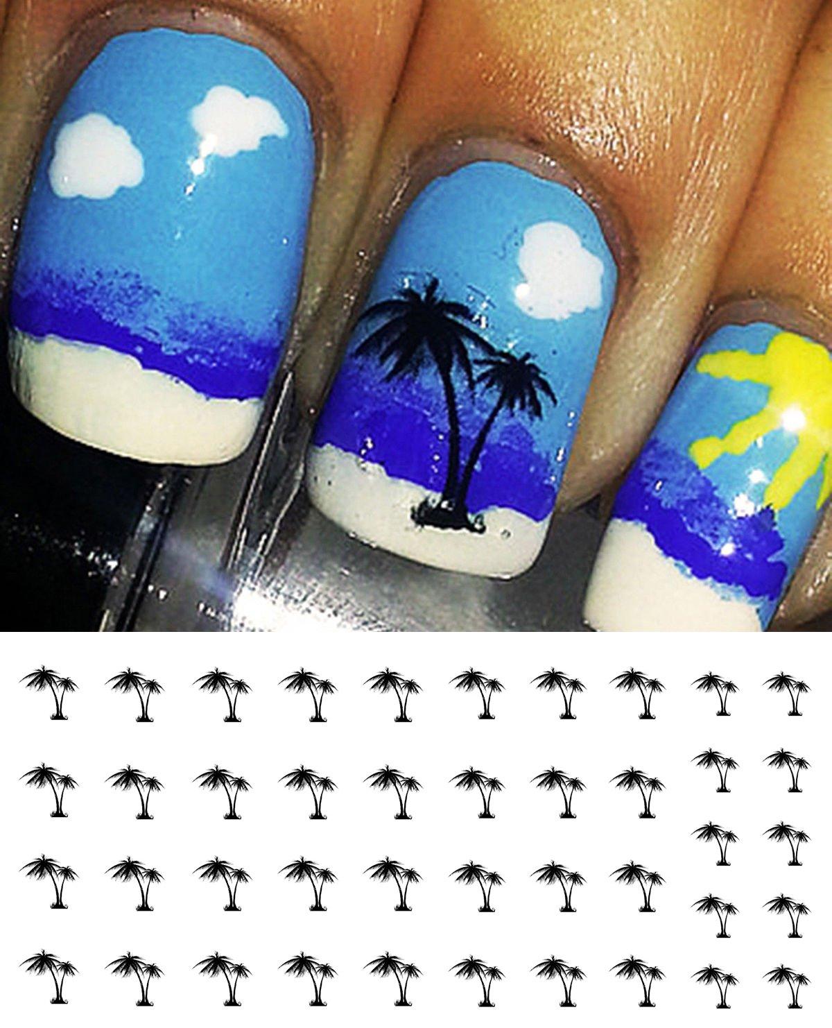 Amazon.com: Palm Trees Water Slide Nail Art Decals - Salon Quality ...