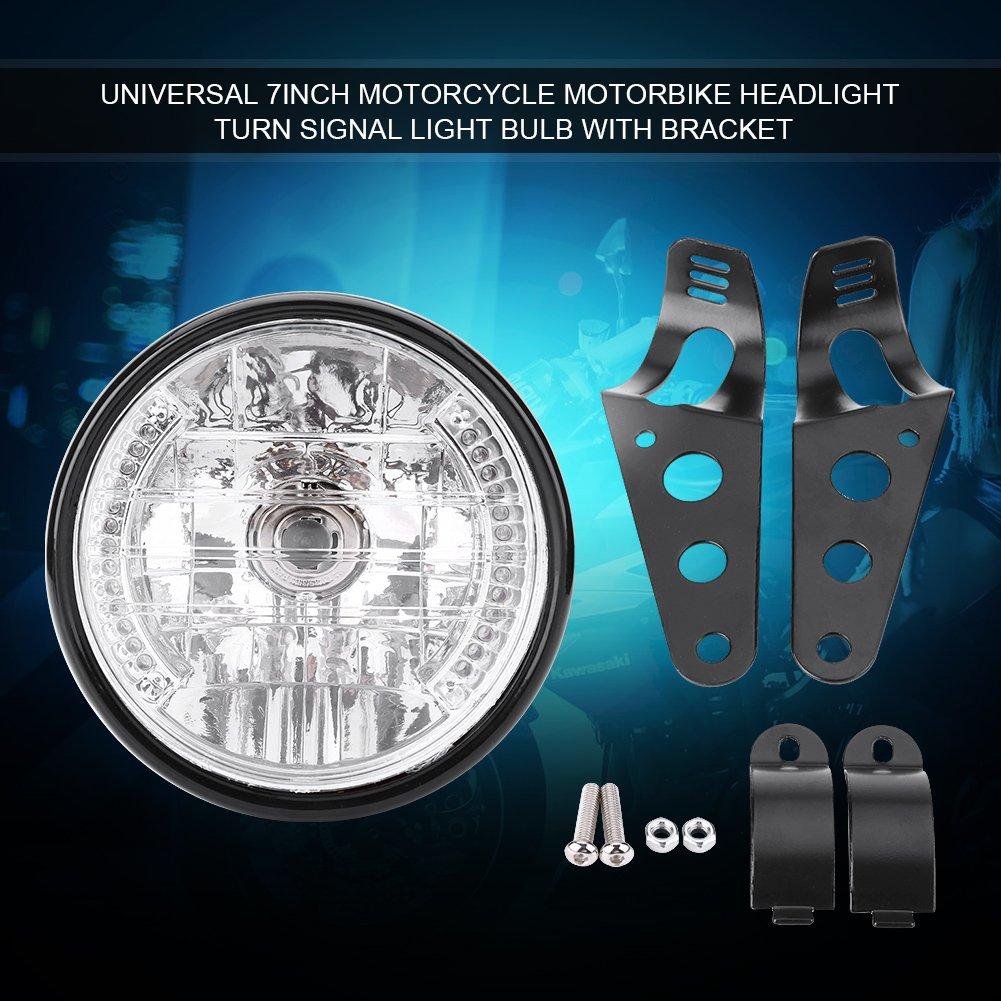 Motorrad-Scheinwerfer Beleuchtung f/ür Motorrad Gelb Frontlicht Blinklicht MTB Universal Motorrad-Frontscheinwerfer