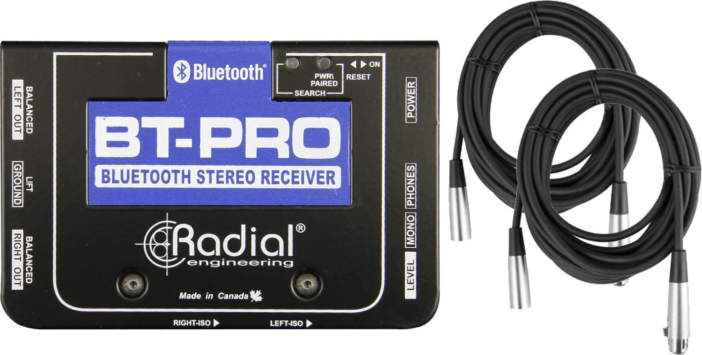 Radial BT-Pro BlueTooth Wireless Reciever Stereo Outputs w/ 2 XLR Cables by Radial (Image #1)