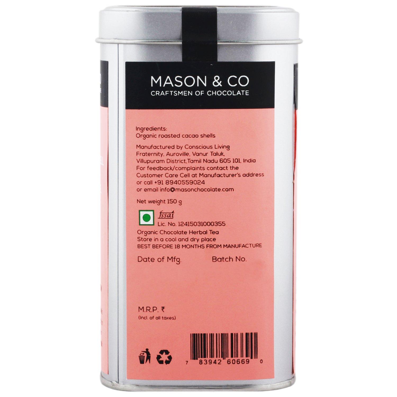 Mason & Co  Organic Cocoa Original Tisane Chocolate Herbal Tea Infusion –  150 Grams