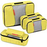 Travel Packing Cubes, Gonex Luggage Organizers L+2S+Slim+Laundry Bag Yellow
