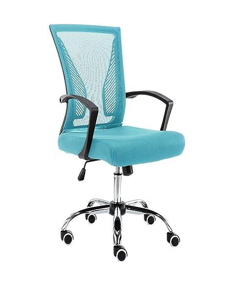 Awe Inspiring Modern Home Zuna Mid Back Office Chair Black Aqua Uwap Interior Chair Design Uwaporg