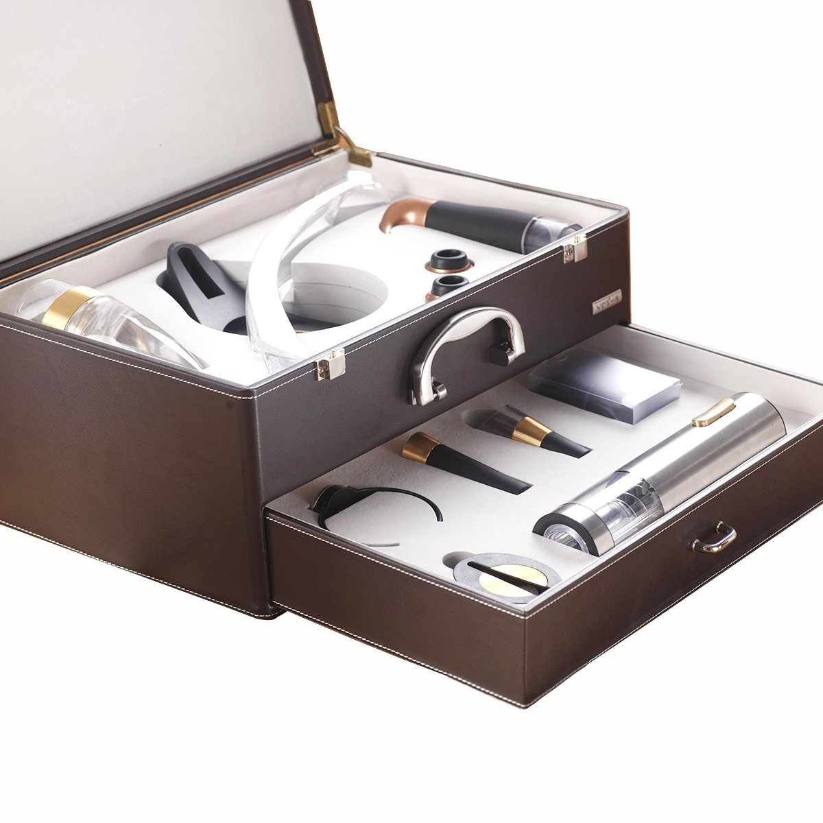 YIMI Luxury European-Style Double-Layer Electric Opener wine 11 Sets Of Exquisite Gift Boxes. YMD-12XC (coffee)