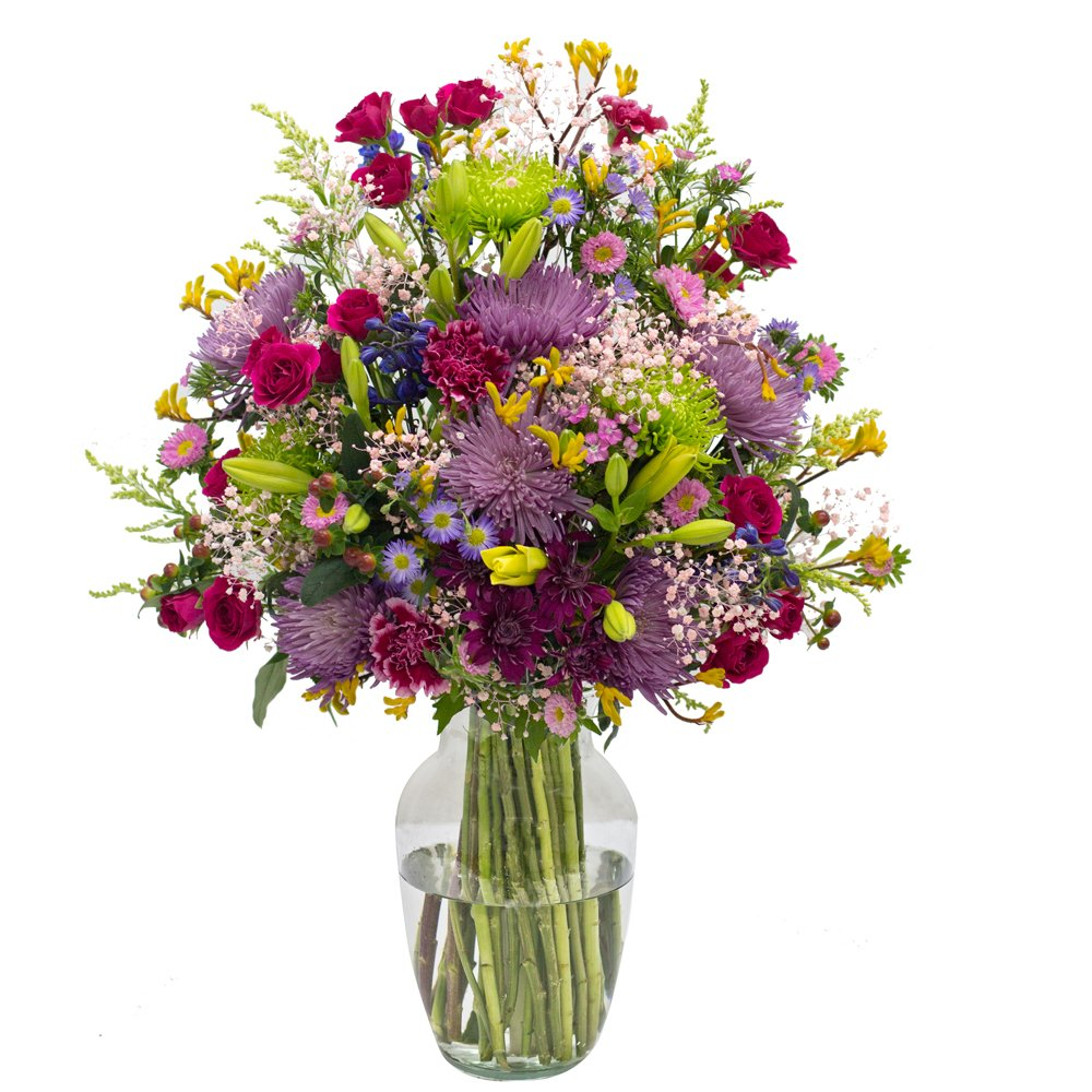 Vistaflor - Raining Color Vase Floral Arrangement Just Because by eFlowy