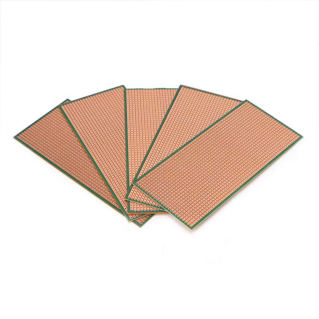 5 placas PCB Veroboard sin cortar PCB placa de circuito de un solo lado 6,5 x 14,5 cm