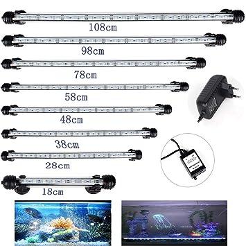 docean d085 de EM108 108 cm Acuario Lámpara Iluminación 14.8 W SMD 5050 Blanco Luz ...