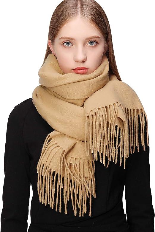 100/% Cashmere Shawl Pashmina Scarf Wrap Stole Women Wool Soft Warm Winter New